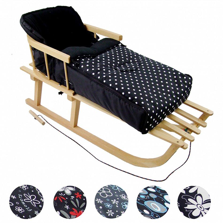 neu kombi angebot holzschlitten mit r ckenlehne und. Black Bedroom Furniture Sets. Home Design Ideas