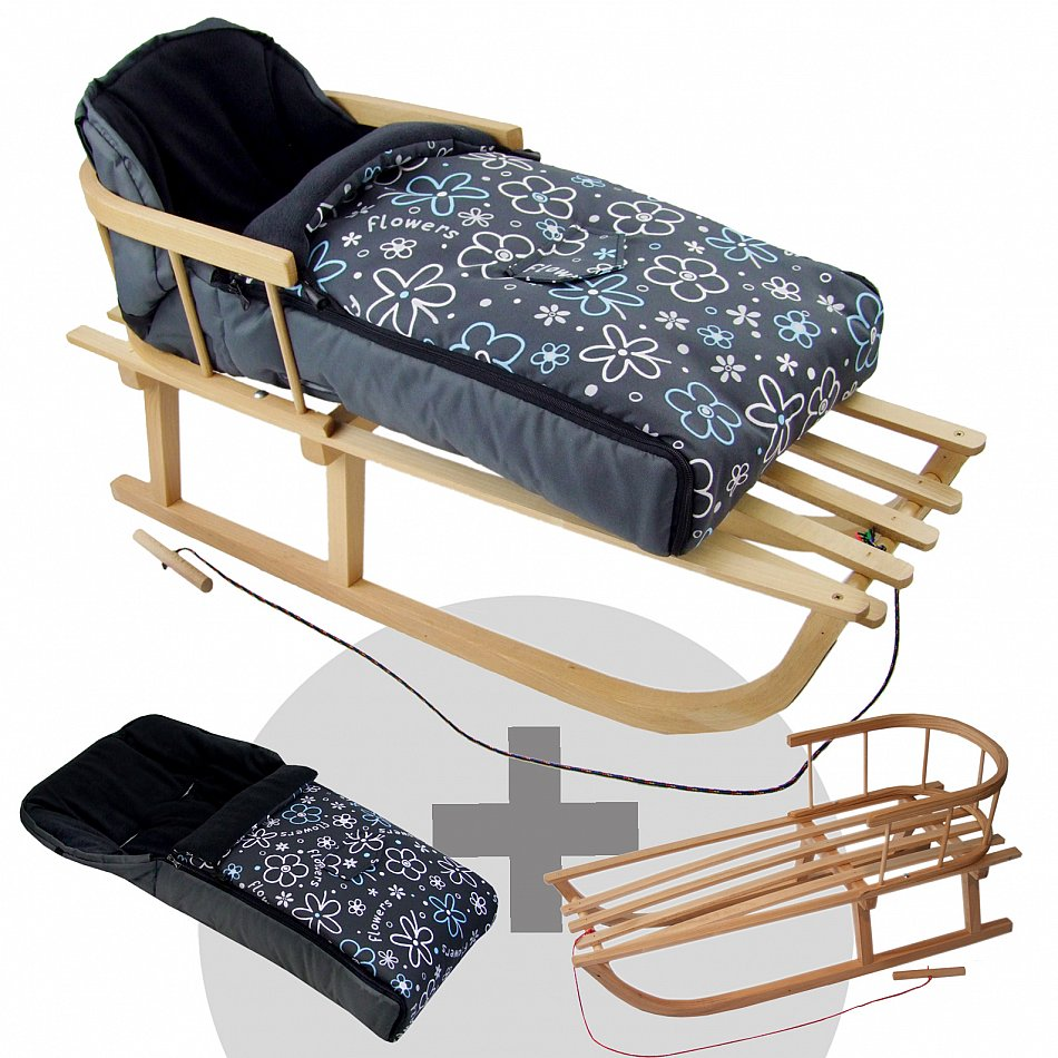 kombi angebot holzschlitten mit r ckenlehne. Black Bedroom Furniture Sets. Home Design Ideas