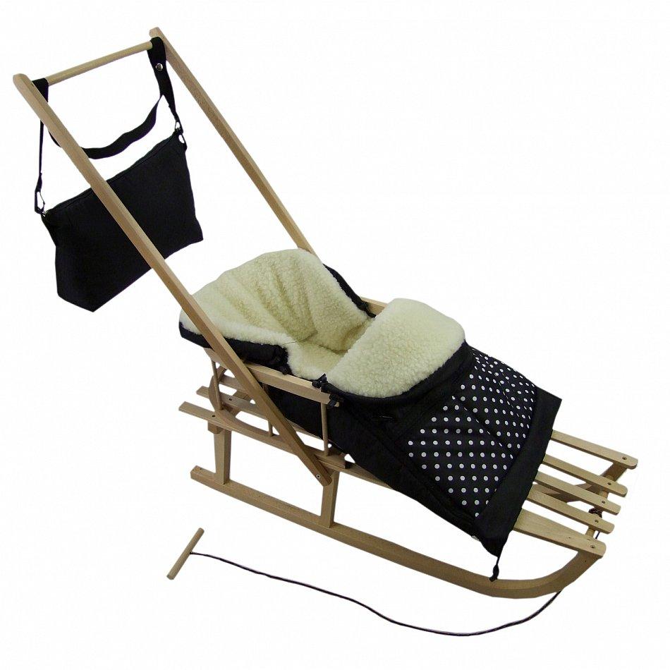 schiebeschlitten r ckenlehne zugleine winterfu sack. Black Bedroom Furniture Sets. Home Design Ideas