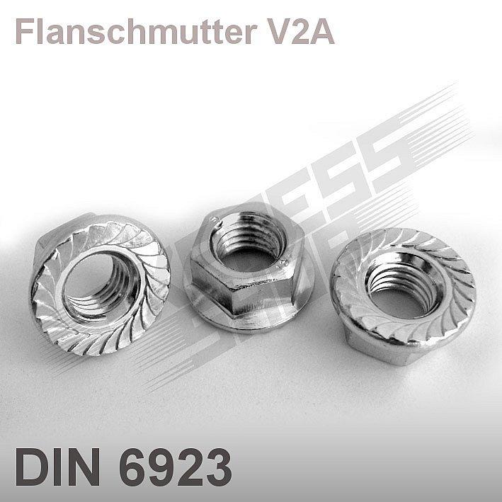 10 Stk M 8 Flanschmuttern M3-M12 Industriequalit/ät