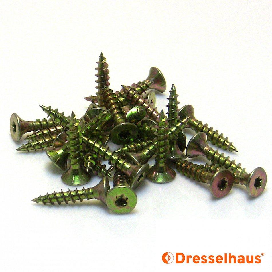 Spanplattenschrauben Dresselhaus JD79 Vollgewinde Torx Größen 3x12-5x25