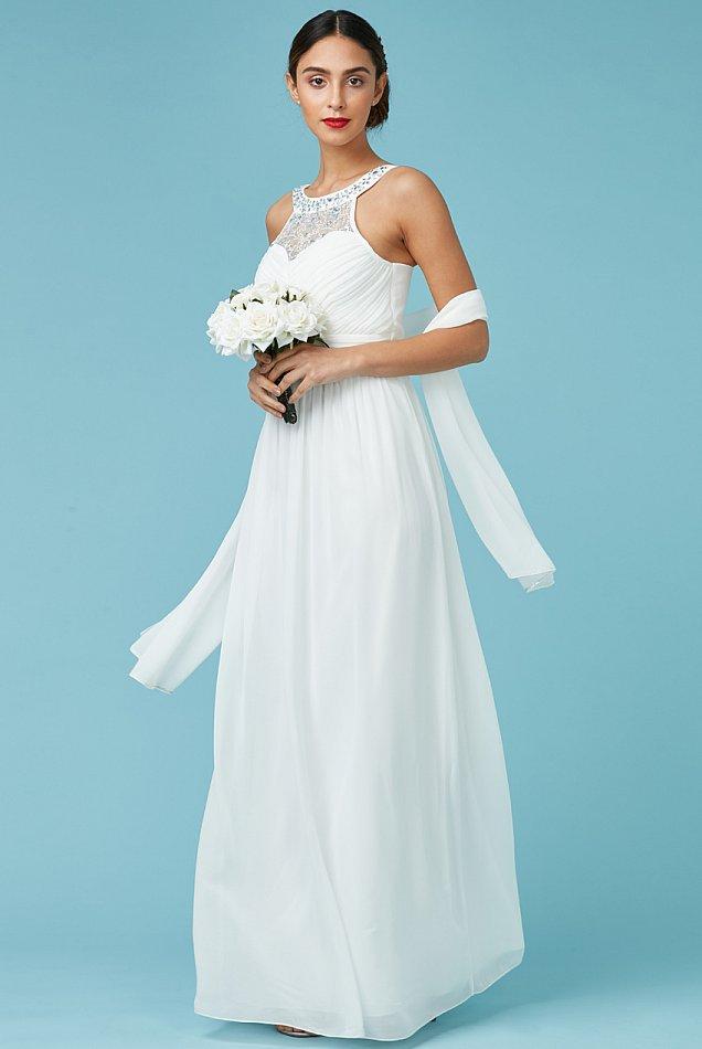 Brautkleid Verlobungskleid Ballkleid Standesamtkleid Kleid Designer ...