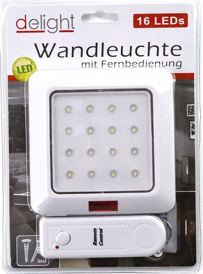 helle led wandleuchte schrankleuchte 16 led mit fernbedienung licht leuchte ebay. Black Bedroom Furniture Sets. Home Design Ideas