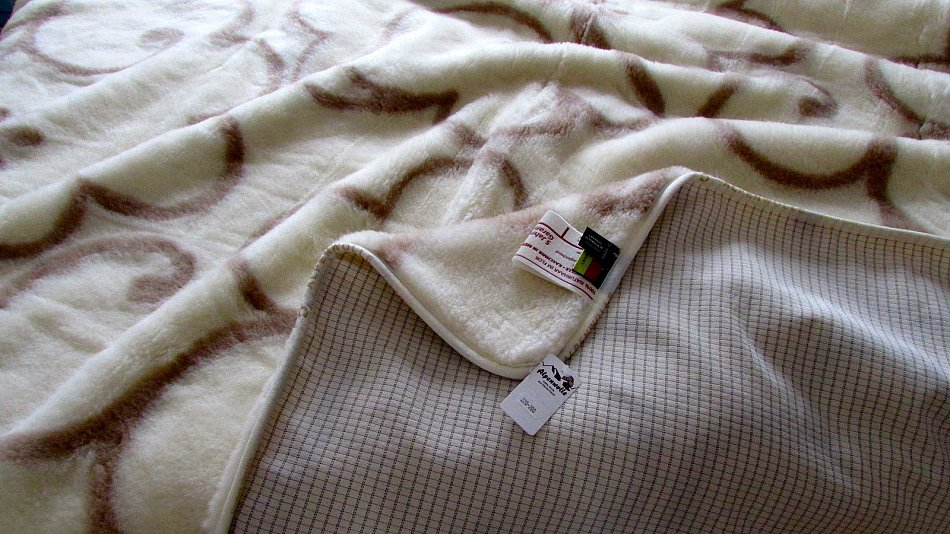 Wool Blanket Curly Hair Natural Colours Bedspread Woolen Cover 100/% Merino