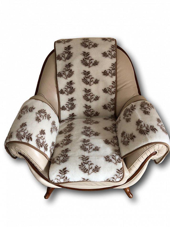 """Sesselschoner /""""Oriental/"""" Sesselauflage Sitzauflage Überwurf beige mit Muster"""