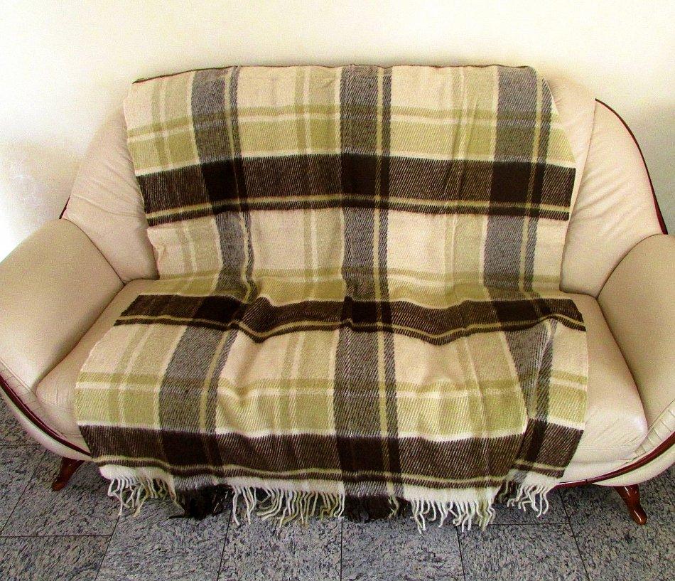 Wolldecke Schurwolldecke Fernsehdecke Tagesdecke Decke 140x210 cm,100/% Lammwolle