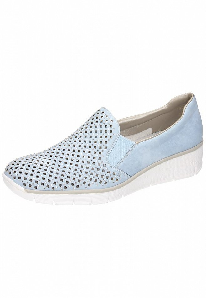 Rieker Zapatos Damen Slipper Halb Zapatos Rieker  Blau 537A6-10 (New) 73cbf5