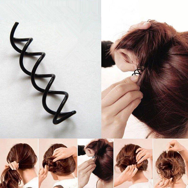 Frisurenhilfe Haarspirale Klein Twister Frisur Styling Pin Schwarz