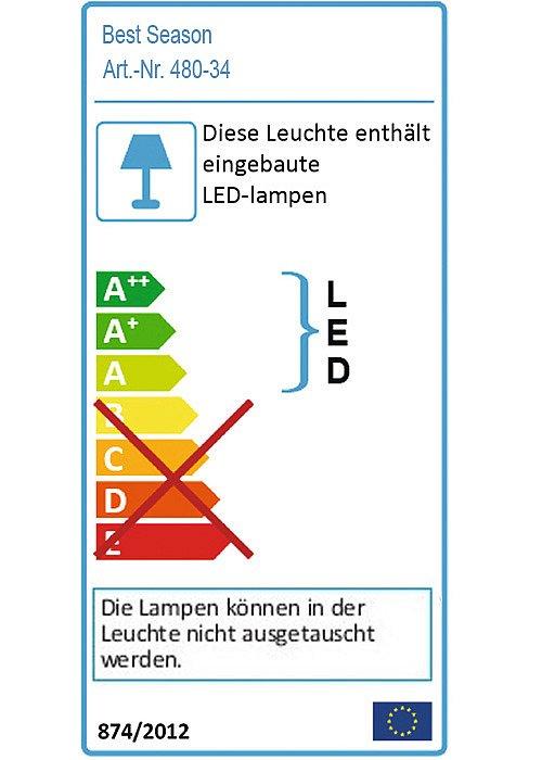 LED Solarleuchte Sunny in Gelb-Gold