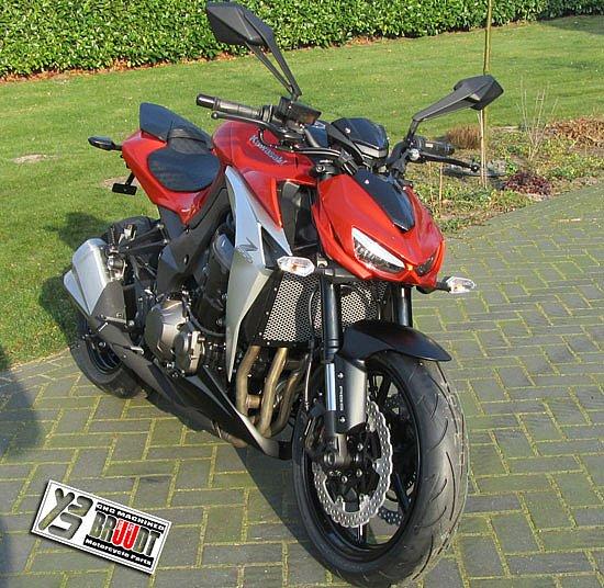 BRUUDT Kühlerabdeckung Schwarz für Kawasaki Z1000 Z 1000 Z1000SX ab 2014
