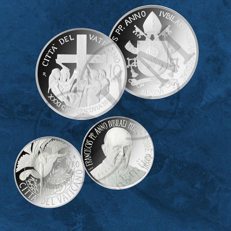 2007 Vatican Italy RARE silver coin PROOF 5 Euro World Peace Day Benedetto XVI