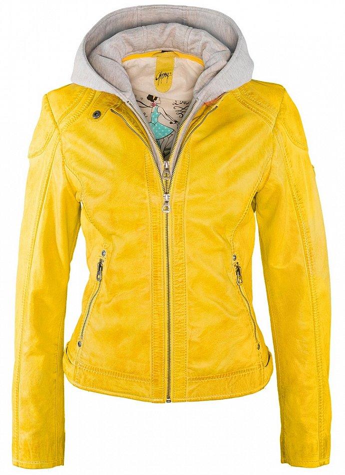 Details zu Gipsy Damen Lederjacke Kapuze Echtleder Angel LAMAS Jacke rose mint blau gelb