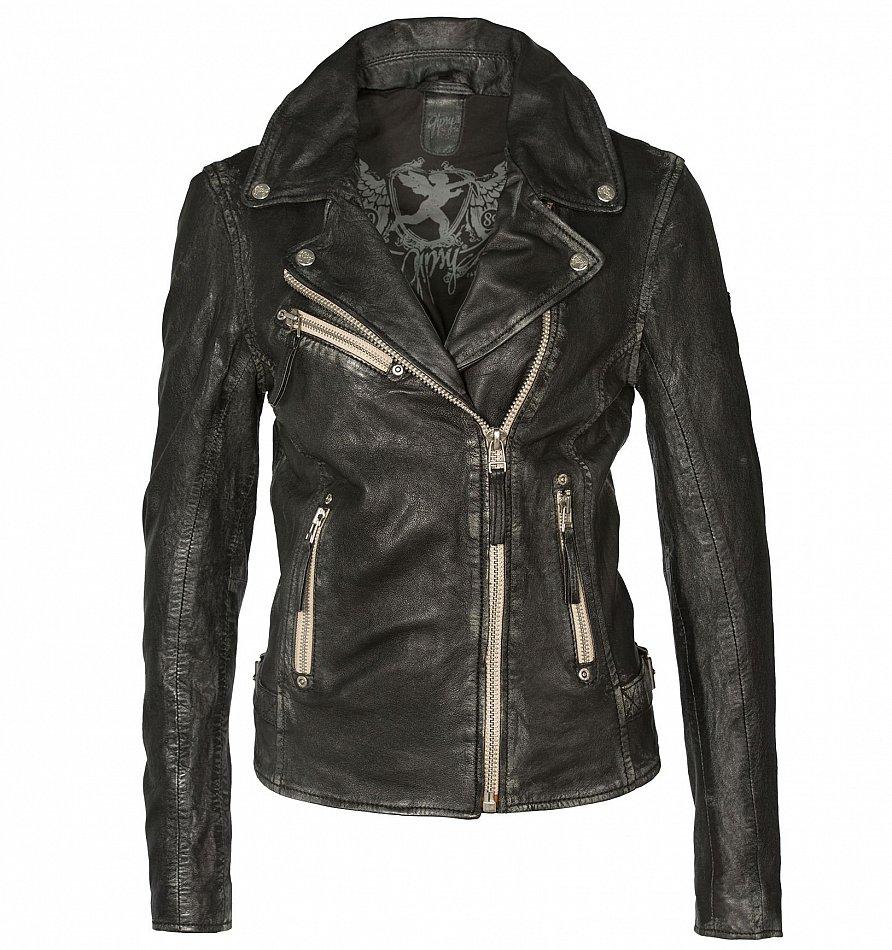 Damen Lederjacke schwarz Größe 3638, plus Lederhose Gr. 38