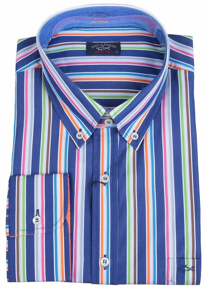 "Paul /& Shark Yachting Leinen Hemd Shirt Langarm Größe 42 16.5/"" Capri Collection"