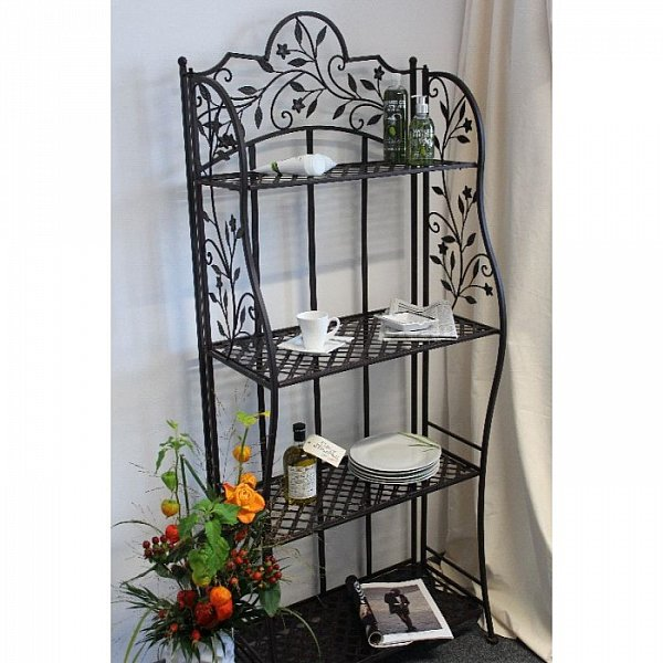 metallregal standregal gartenregal metall regal klappbar antik look ruffini vint ebay. Black Bedroom Furniture Sets. Home Design Ideas