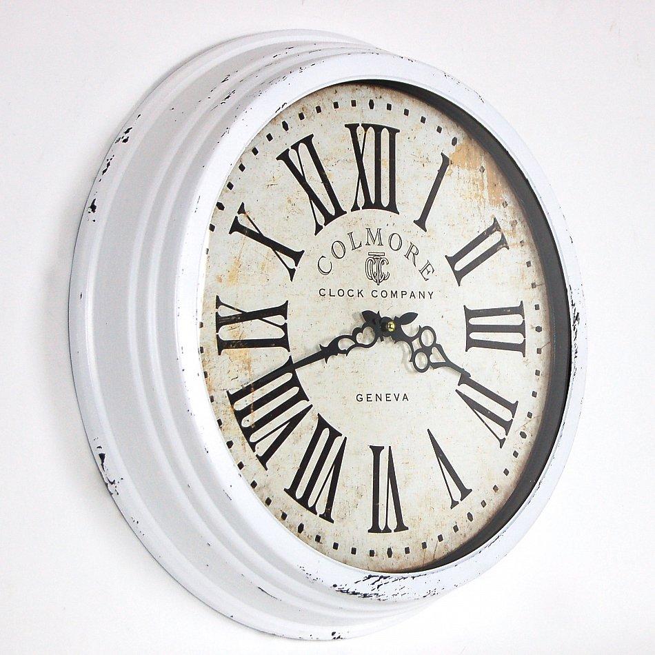 Landhaus vintage wanduhr retro shabby chic uhr clock in - Wanduhr landhaus ...
