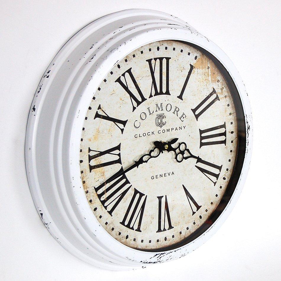 landhaus vintage wanduhr retro shabby chic uhr clock in. Black Bedroom Furniture Sets. Home Design Ideas