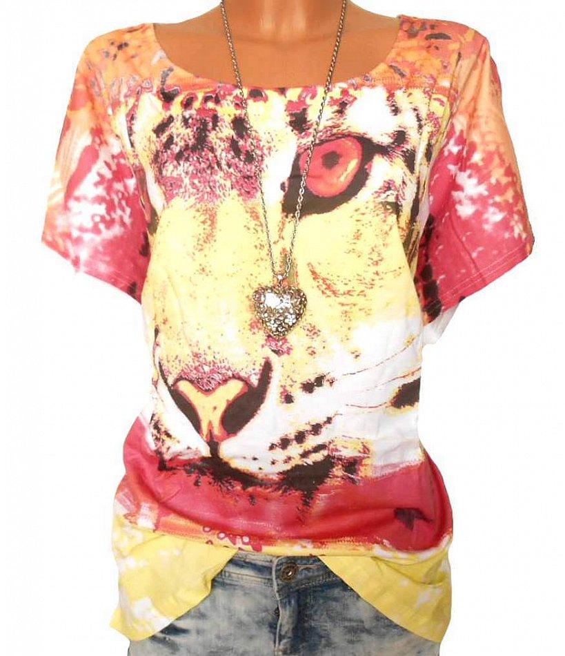 Details zu SHEEGO Damen Shirt weiß Animalprint GR. 44 46 48 50 52 54 56 58 NEU 034