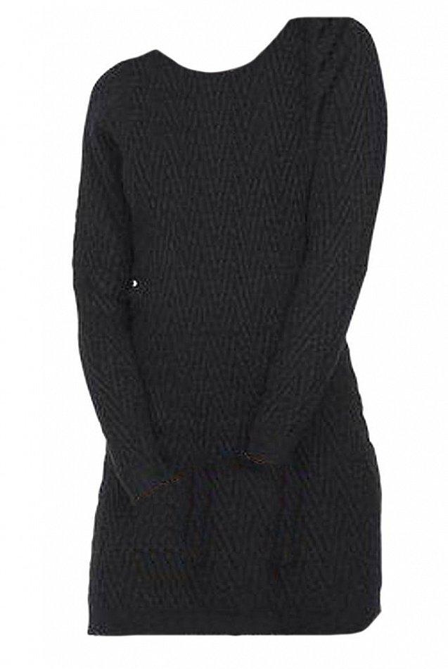 VERO MODA Damen Kleid Strickkleid schwarz Gr. M L XL 38 40 ...