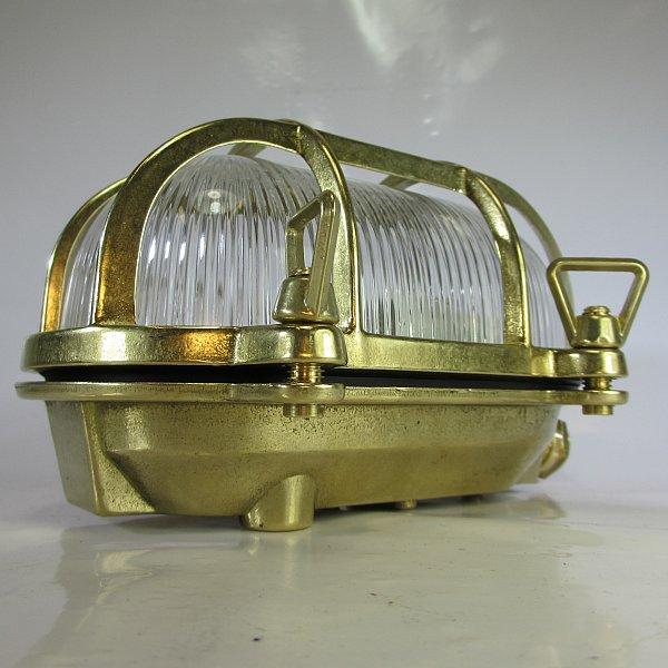 schiffslampe schildkr te maschinenraumlampe deckleuchte messing kaj tenlampe ebay. Black Bedroom Furniture Sets. Home Design Ideas