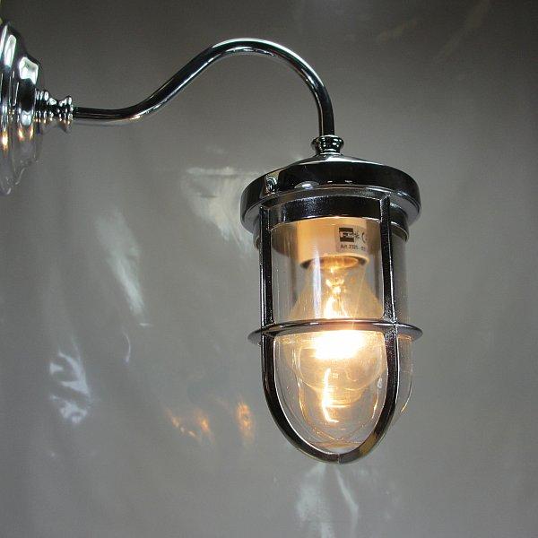 Art deco stil hoflampe messing verchromt terrassenlampe for Design lampen nachbau