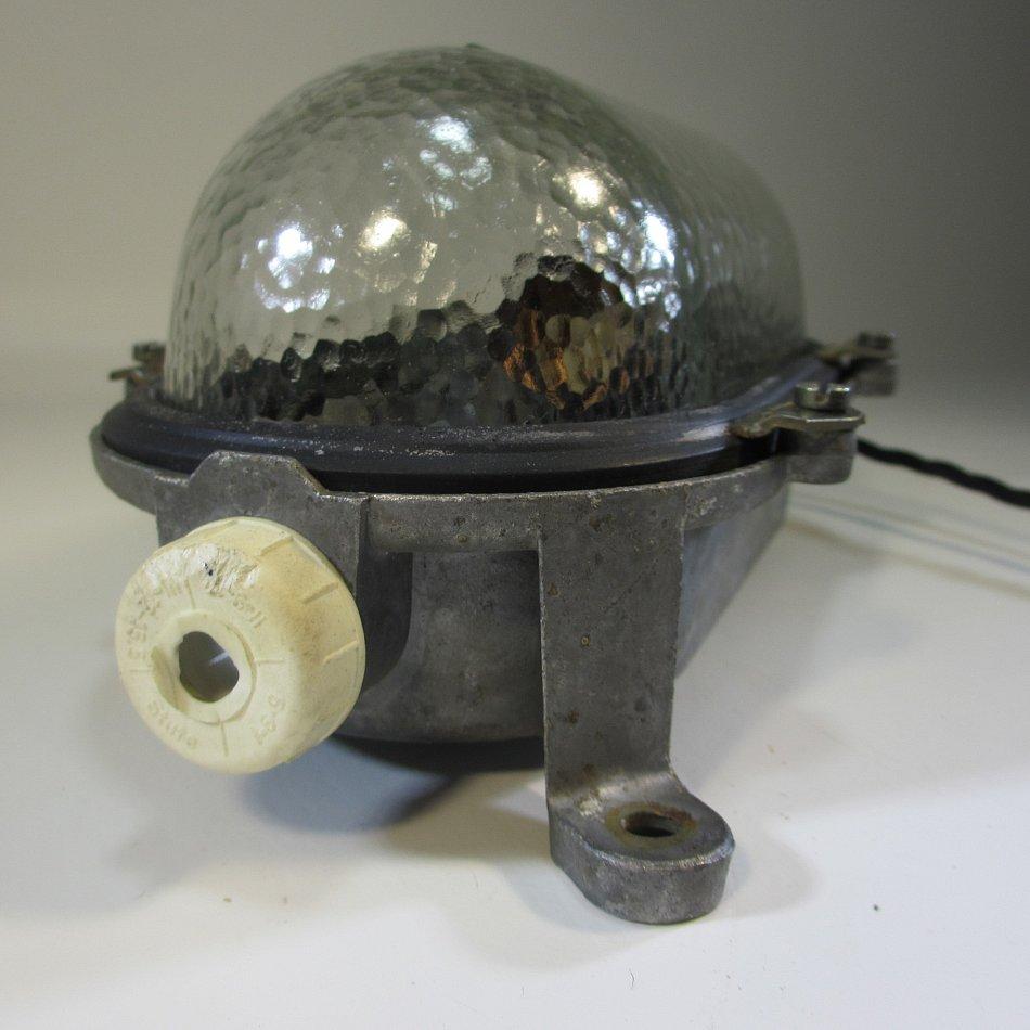 Bunkerlampe vintage bergwerklampe antik wandlampe aluminium industrie design ebay - Wandlampe industriedesign ...
