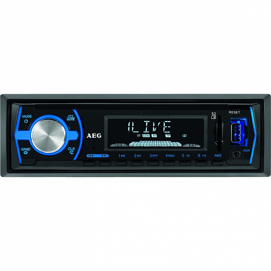 aeg autoradio mit bluetooth usb mit card reader 40 watt. Black Bedroom Furniture Sets. Home Design Ideas