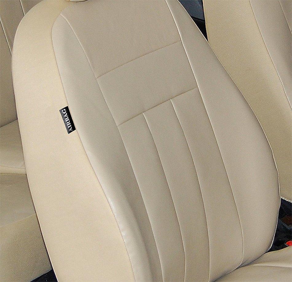 VW Touran mit 3 Einzelsitzen Maßgefertigte Kunstleder Sitzbezüge in Beige