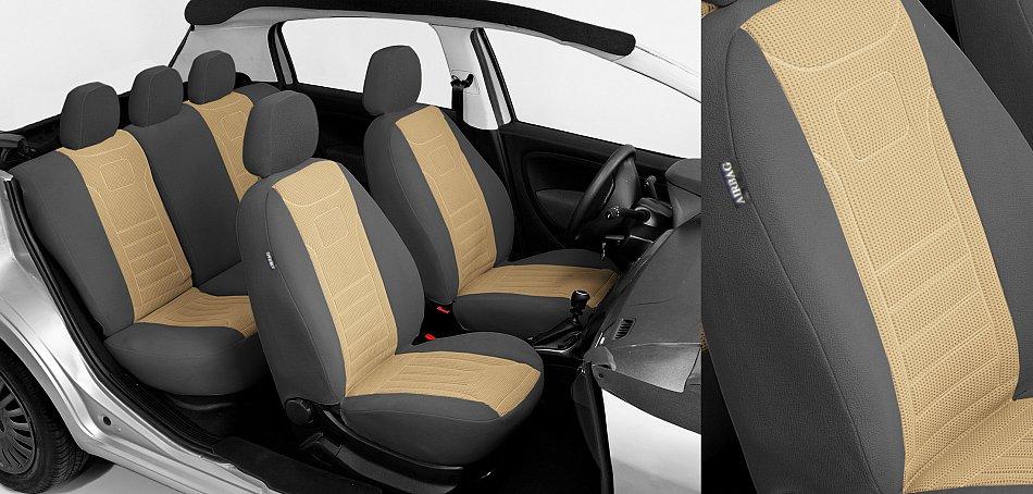 VGB1 Beige Ford Mondeo MK1 MK2 MK3 MK4 Maßgefertigte Velours Sitzbezüge