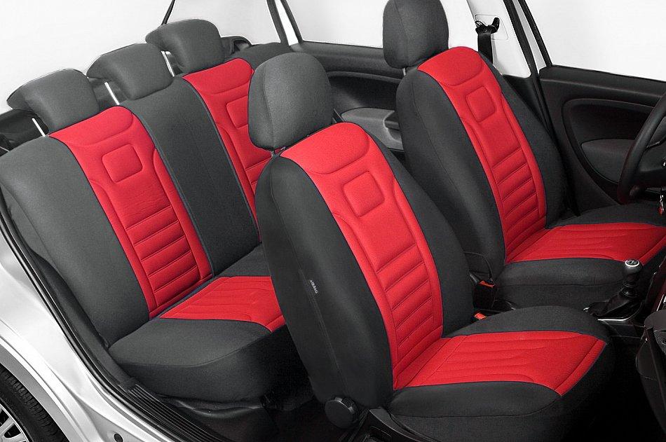 Volkswagen UP maßgefertigte Sitzbezüge VERLUX Autositzbezüge ROT