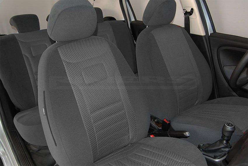 Opel Corsa Maßgefertigte Sitzbezüge Velours Stripes TrueColorGrau