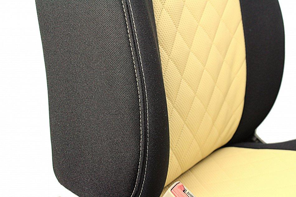 4G2, 4GC, Premium Universal Autositzbezüge Sitzbezüge Kunstleder Beige AUDI A6