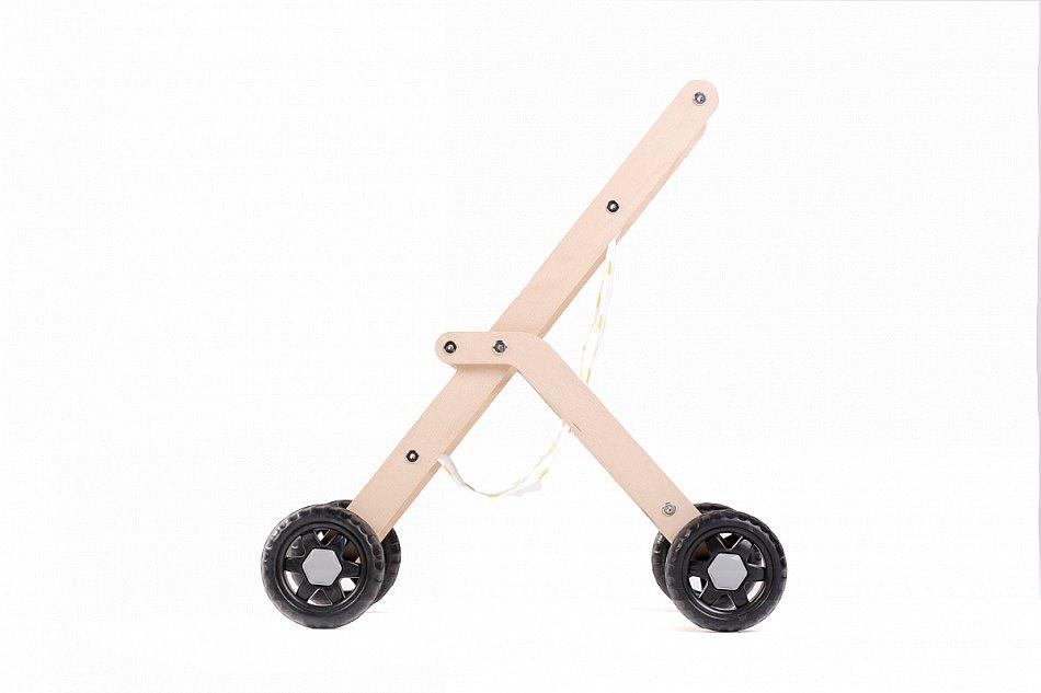 mamatoyz Pupenwagen Buggy Holzspielzeug