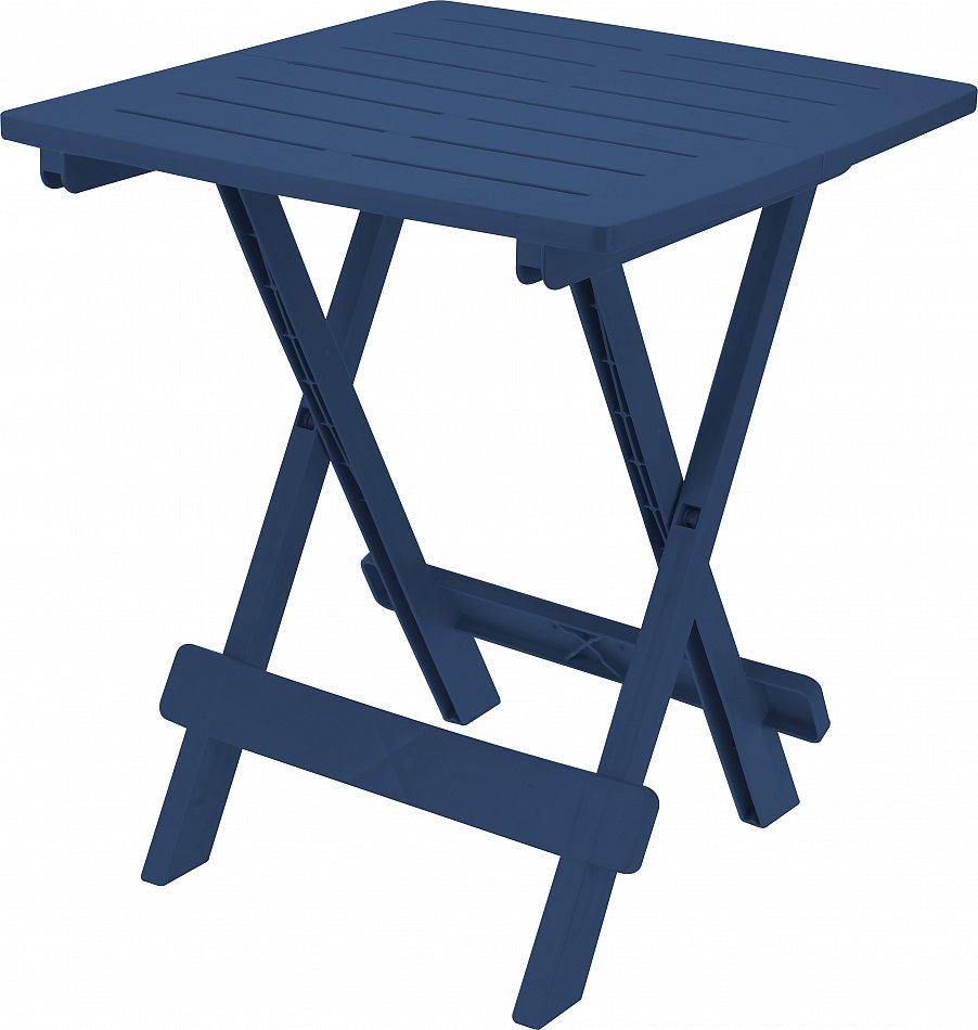 Gartentisch Beistelltisch Klapptisch Campingtisch Kunststoff Blau