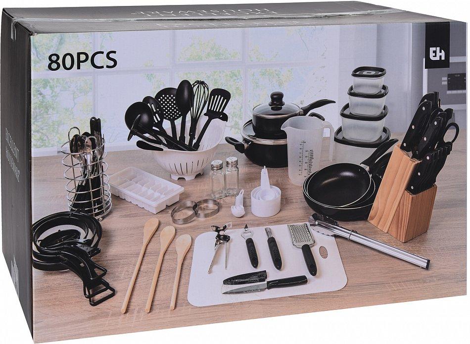 Küchenset Kochset Küchenhelfer Küchenausstattung Küchenutensilien 80 Teile 1460