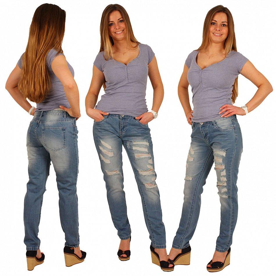 damen jeans skinny r hrenjeans damen jeanshose mit risse stretch h ftjeans ebay. Black Bedroom Furniture Sets. Home Design Ideas