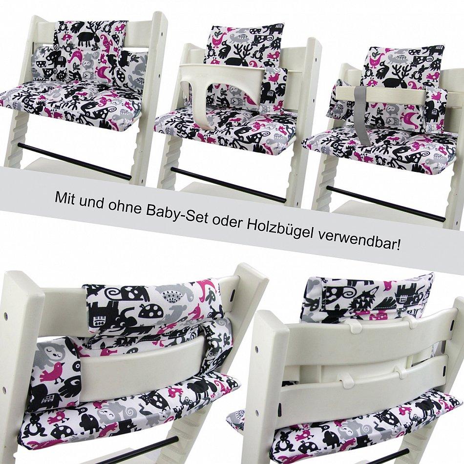 bambiniwelt sitzkissen ersatzbezug stokke tripp trapp grau gr n eifelturm ebay. Black Bedroom Furniture Sets. Home Design Ideas