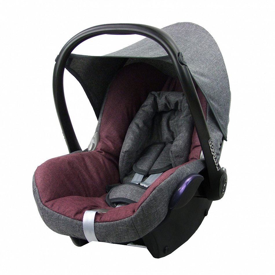 bambiniwelt ersatzbezug 6tlg maxi cosi cabriofix baby meliert grau bordeaux ebay. Black Bedroom Furniture Sets. Home Design Ideas