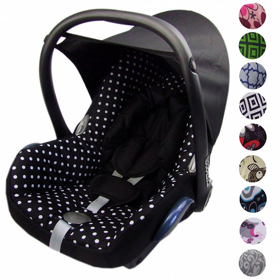 SET Gurtpolster Schrittpolster Maxi Cosi Babyschalen CABRIO FIX SCHWARZ 3tlg