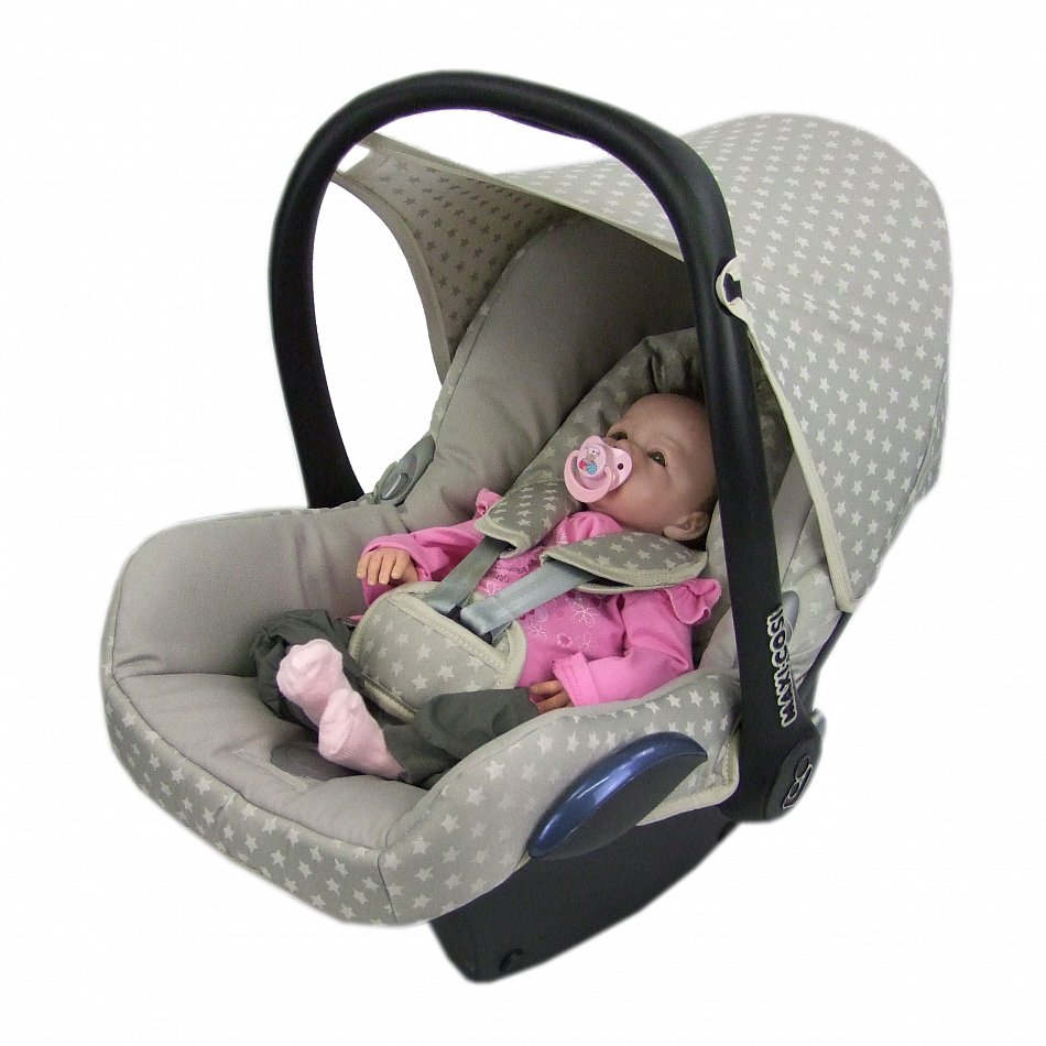 bambiniwelt ersatzbezug babyschale maxi cosi cabriofix sterne beige ebay. Black Bedroom Furniture Sets. Home Design Ideas
