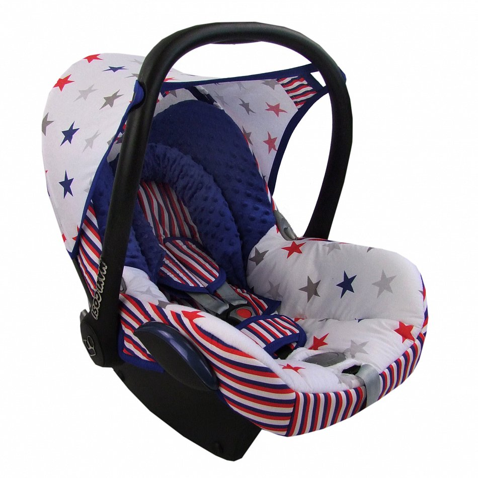 bambiniwelt ersatzbezug baby maxi cosi cabriofix minky weiss bunte sterne mb11 ebay. Black Bedroom Furniture Sets. Home Design Ideas