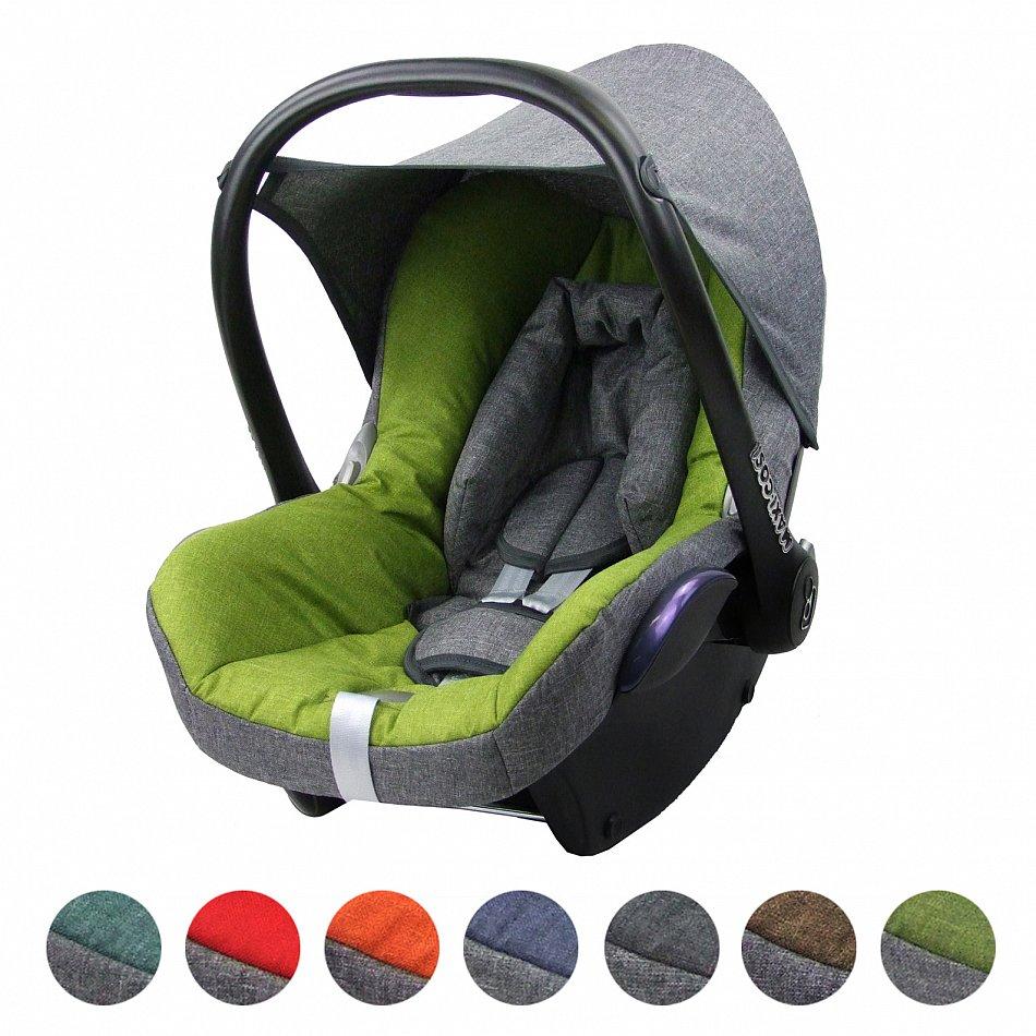 Maxi-Cosi CABRIOFIX Baby MELIERT GRAU//HELLGRÜN BAMBINIWELT Ersatzbezug 6tlg