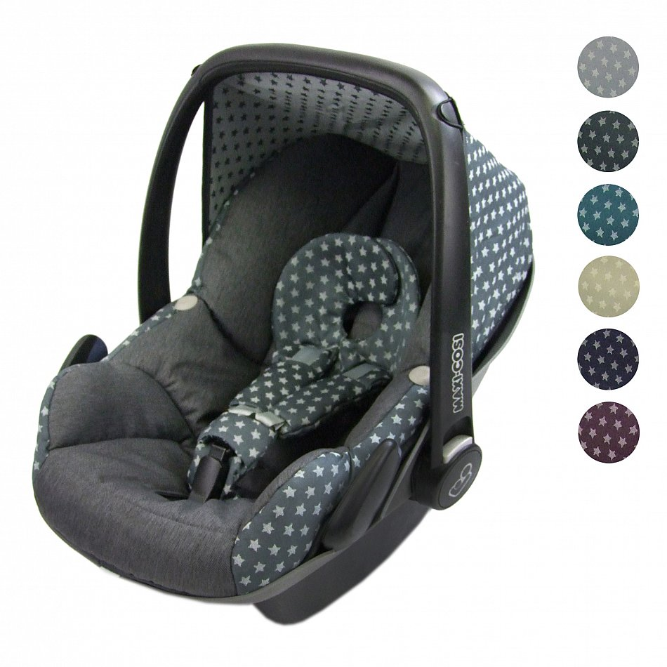 bambiniwelt ersatzbezug f r die babyschale maxi cosi pebble sterne ebay. Black Bedroom Furniture Sets. Home Design Ideas