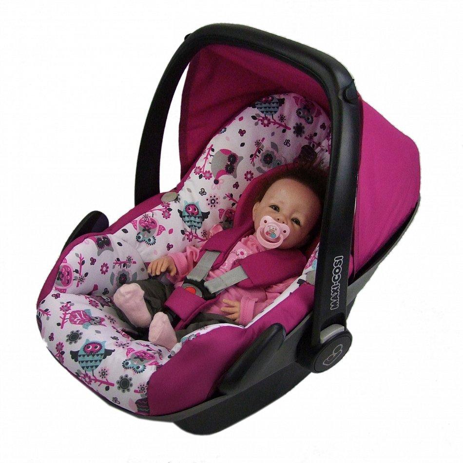 bambiniwelt ersatzbezug babyschale maxi cosi pebble eule 1 ebay. Black Bedroom Furniture Sets. Home Design Ideas