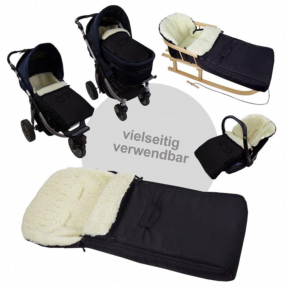 universal fu sack lammwolle winterfu sack f r kinderwagen. Black Bedroom Furniture Sets. Home Design Ideas
