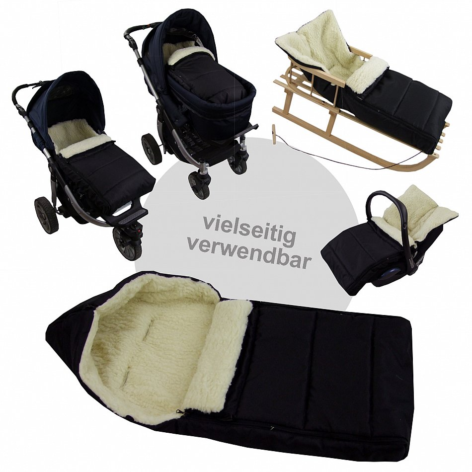 muff winterfu sack aus wolle f r kinderwagen handw rmer. Black Bedroom Furniture Sets. Home Design Ideas