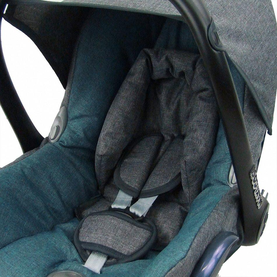Komplett-Set XX Bezug f/ür Babyschale BAMBINIWELT Ersatzbezug f/ür Maxi-Cosi CabrioFix 6-tlg MINKY MB 7