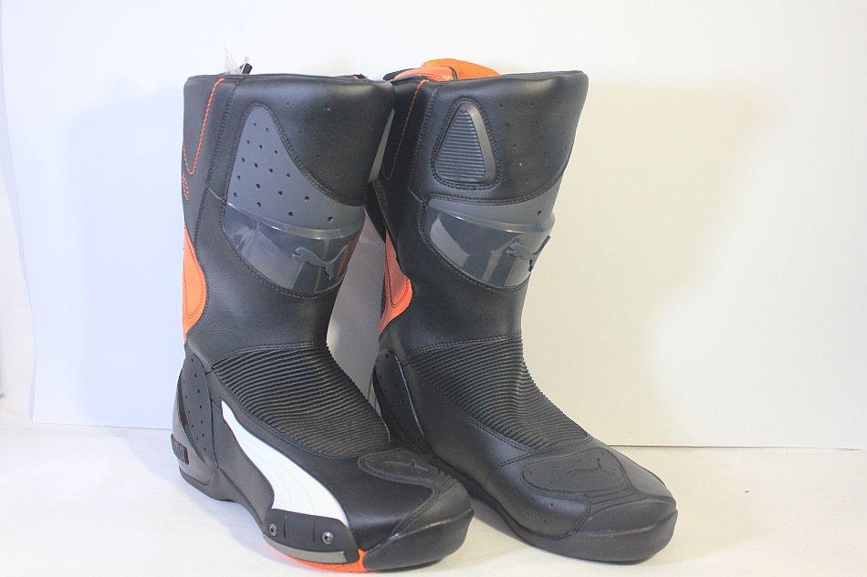 Details zu Puma Motorrad stiefel Motorradstiefel Schwarz Orange Herrenstiefel 30506501