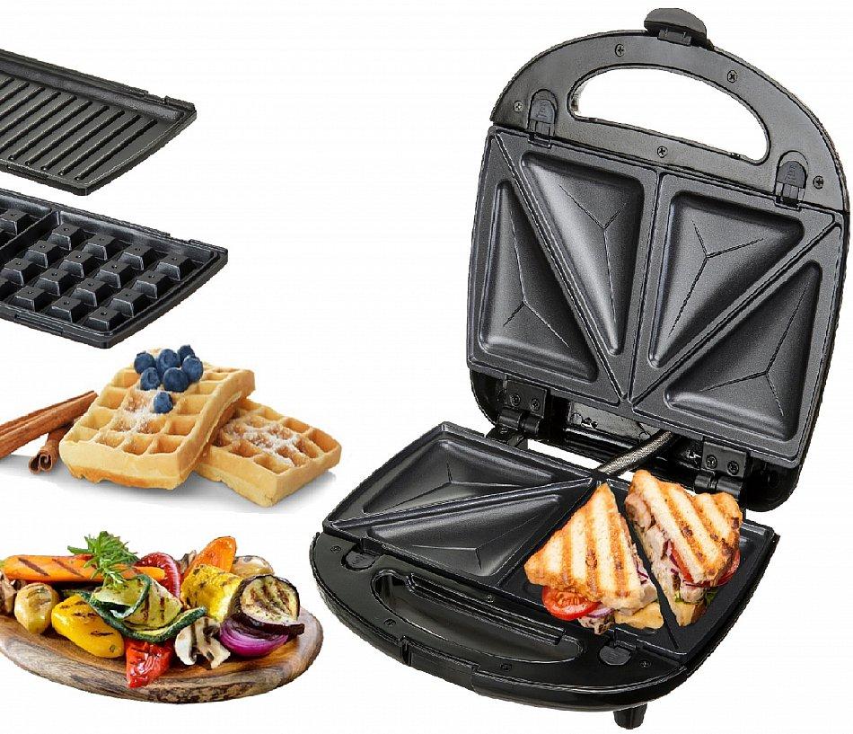 Waffeleisen Und Sandwichmaker : 3in1 sandwichmaker sandwichtoaster elektrogrill ~ Watch28wear.com Haus und Dekorationen
