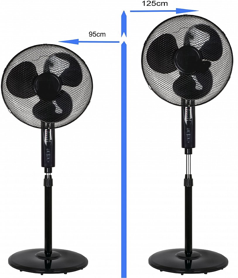 standventilator ventilator mit fernbedienung timer luftk hler klimager t 41cm ebay. Black Bedroom Furniture Sets. Home Design Ideas
